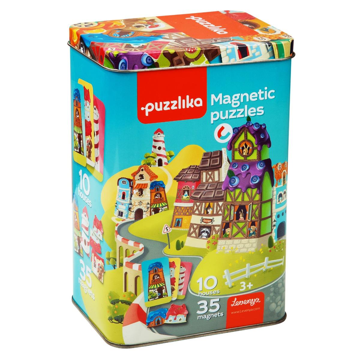 "Puzzle Magnetic, Cubika, ""Sa construim casute"""