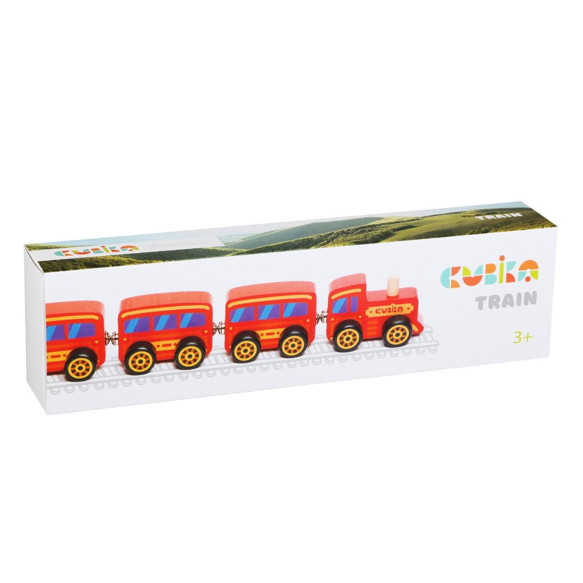 Jucarie din lemn, Cubika, Trenulet Magnetic