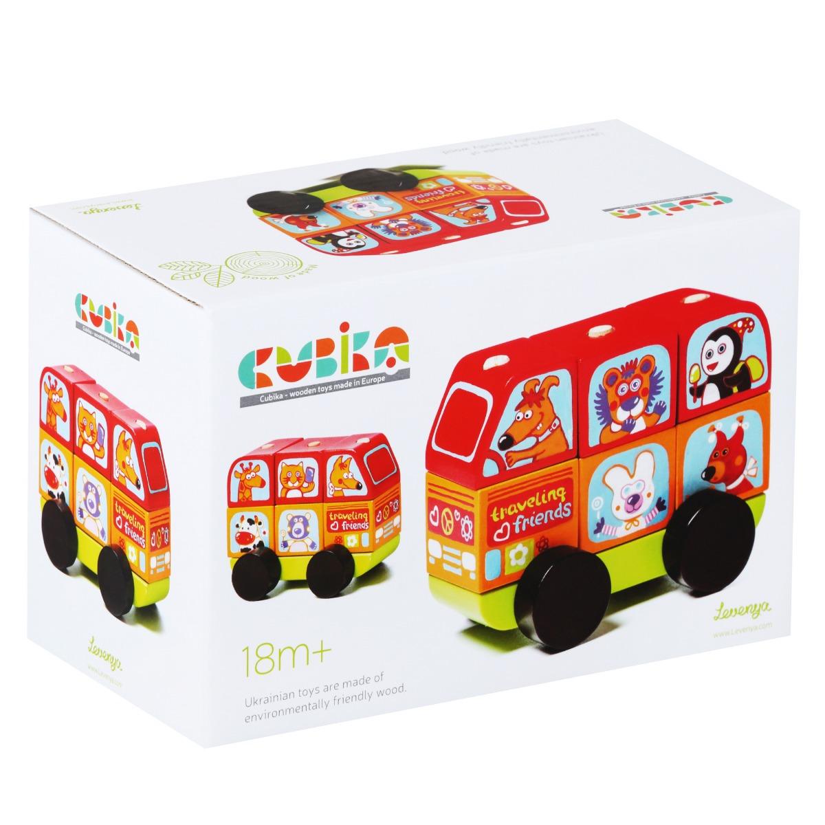 Jucarie din lemn, Cubika, Mini Bus