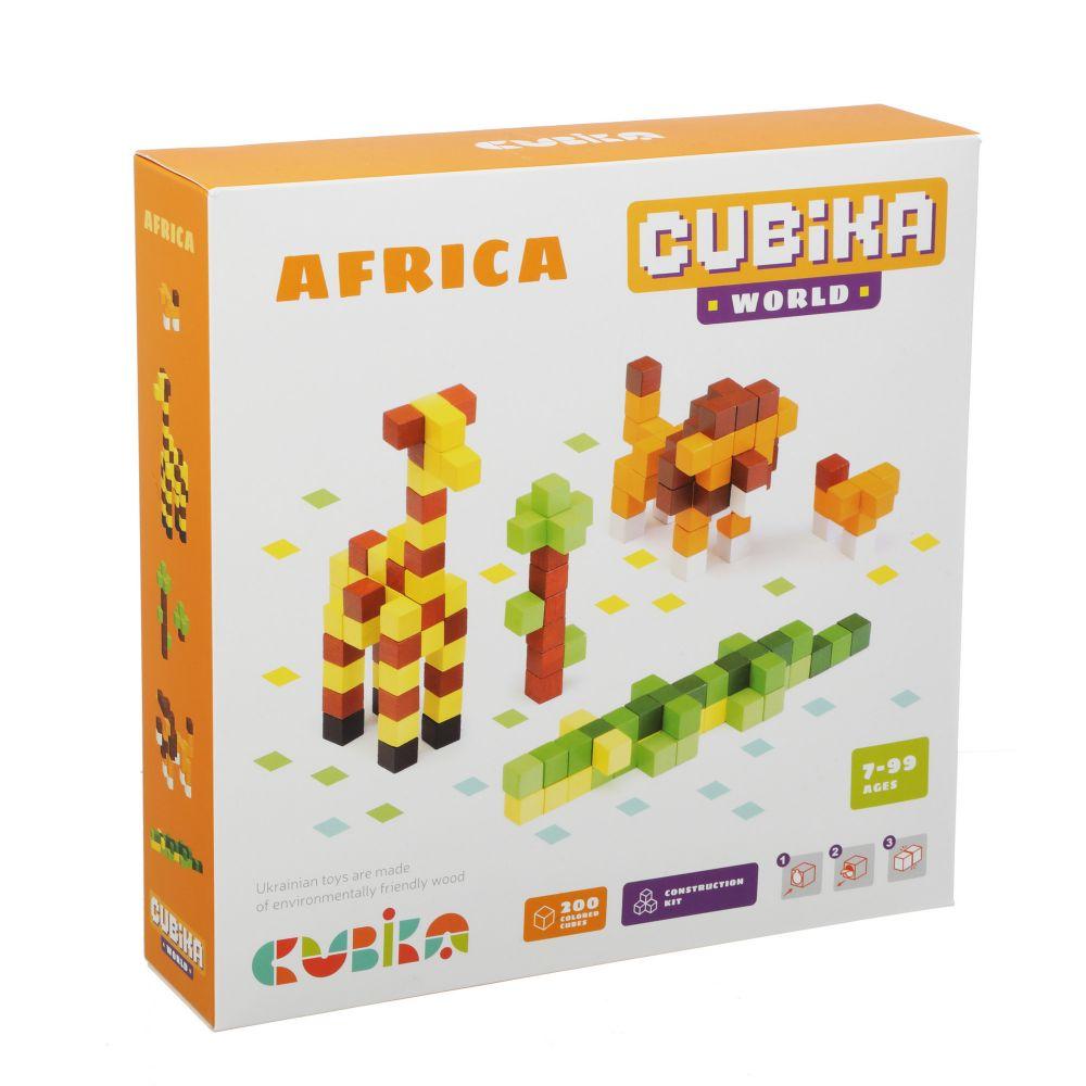 Joc Din Lemn, Set de constructii, Cubika, World Africa