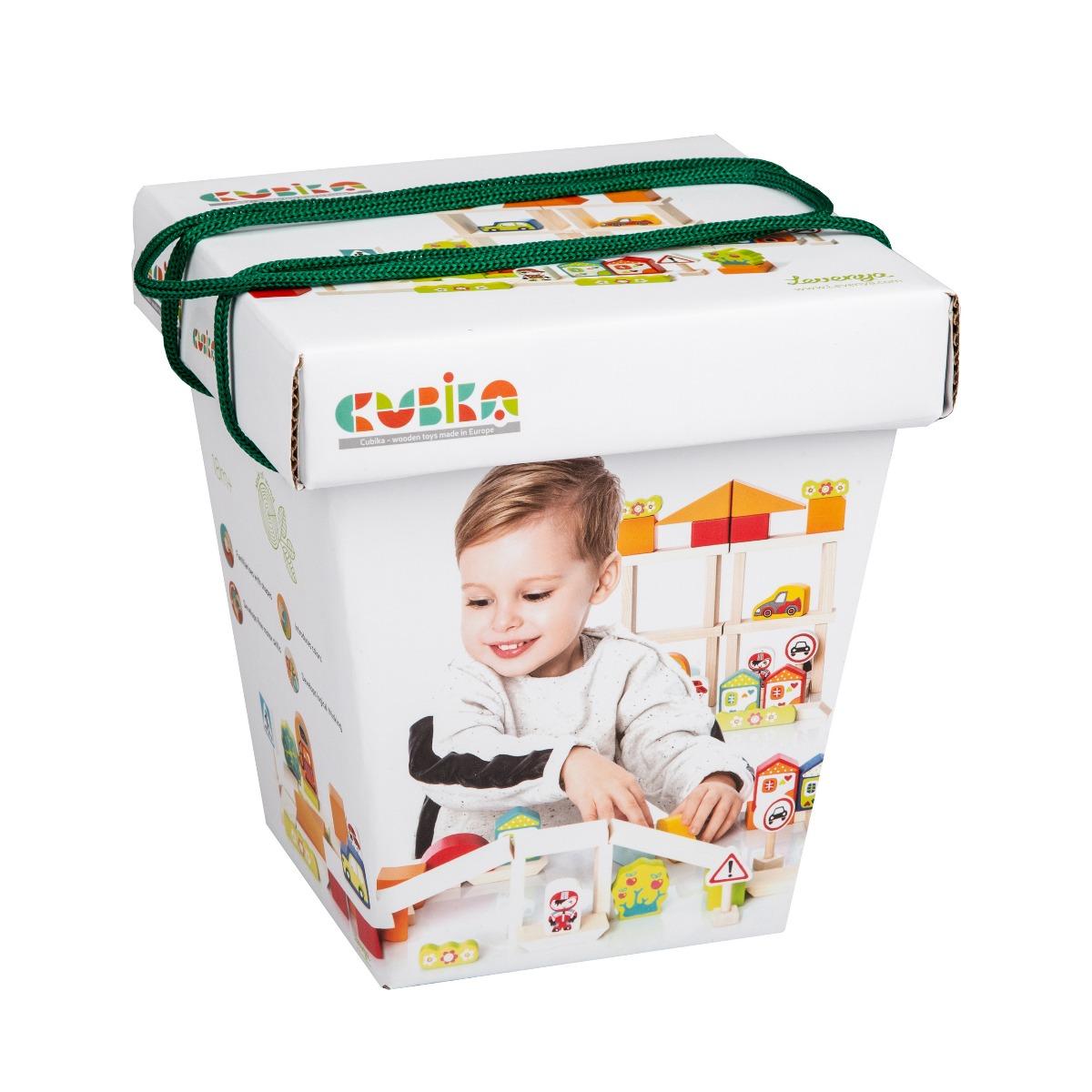 Jucarie Din Lemn, Cubika - Kit De Constructie Pentru Baietei